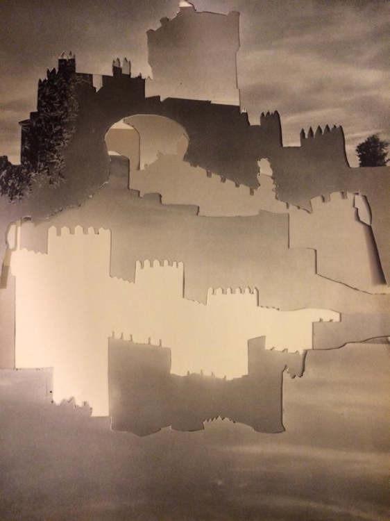 Experimenting with Paper Castle Sky's (Physical Collage - 2014)