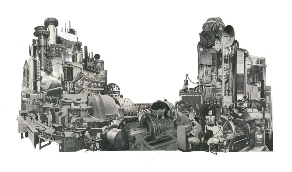 The Machine II (Physical Collage - 2013) [SOLD]
