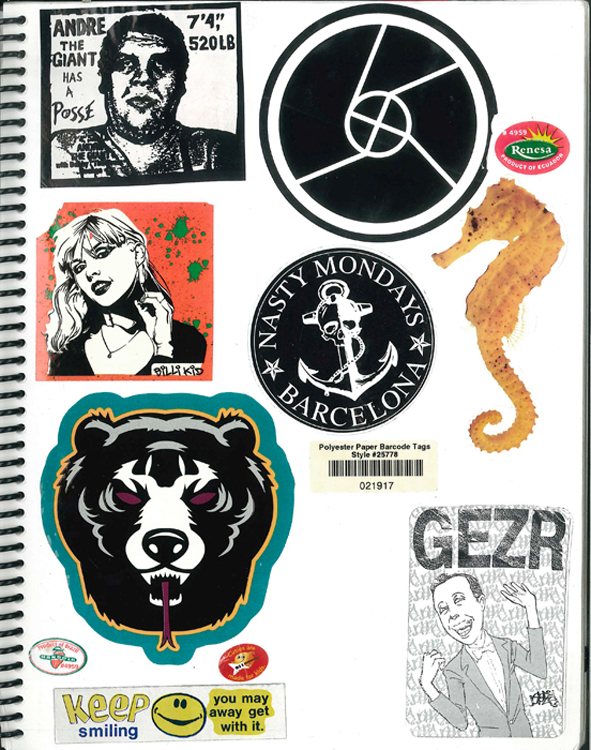 Page #27- Sticker Collection