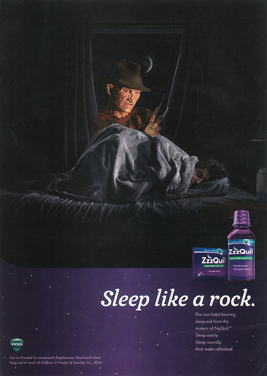 NyQuil on Elm St. (Physical Collage - 2015)