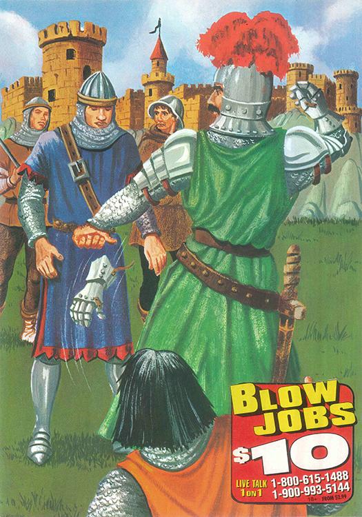 Blow Jobs $10: Variation #1 (Analog Collage - 2016)