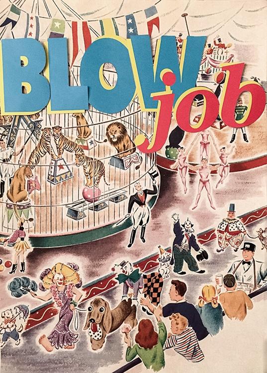 Blow Job: Variation #1 (Analog Collage - 2016)