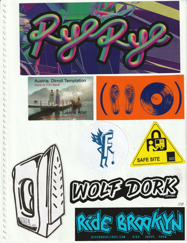 Page #104 - Sticker Collection (Morgan Jesse Lappin)