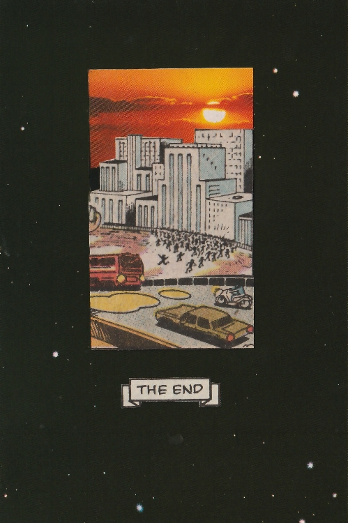 The End (analog collage 5.25 x 3.25)
