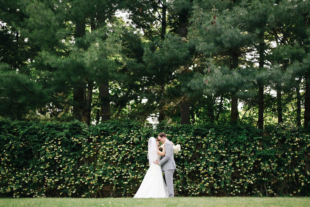Bride and Groom at Allerton Park, Champaign Wedding Photographer