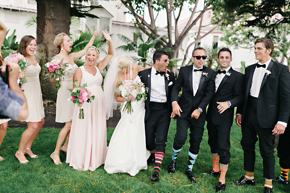 Fun Bridal Party on Coronado Island