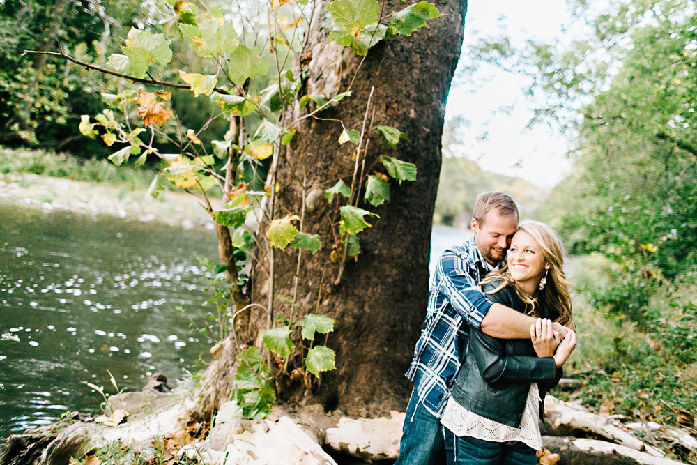 Engagement portrait in the State Park