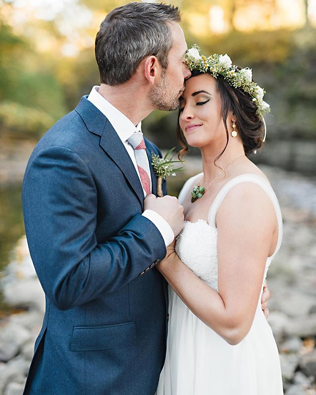I live this quiet moment between @kpierson57 and @nutmegg9. Just a bride and groom next to a slow moving creek. What a perfect fall evening at @camp_shaw. . . . . #chicagowedding #chicagoweddingphotographer #bourbonnaisweddingphotographer #weddingphotography #weddingphotographer #brideandgroom #bride #groom #loveauthentic #makemoments #portraitperfection #junebugweddings #portrait #ryantimmphotography #weddinginspiration #moments #love #togetherforever #instawedding #firstandlast #wedchicago #campshawwawnassee #campshaw #outdoorwedding #flowercrown