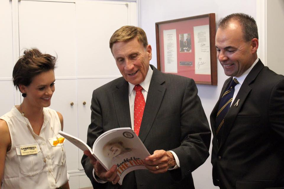 Michael and Melissa Wiggins meeting Congressman Mica
