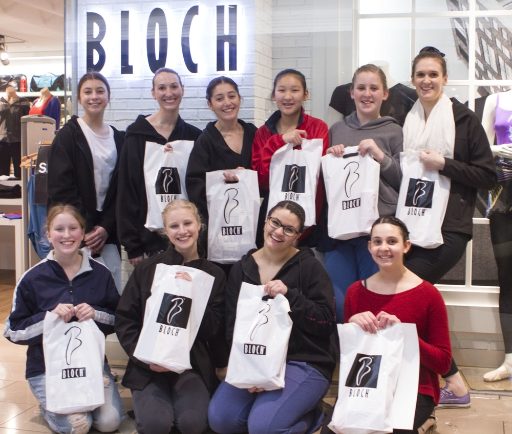 Students won the Bloch sponsored class with Daniel Gaudiello, Principal Dancer Australian Ballet Company 2014