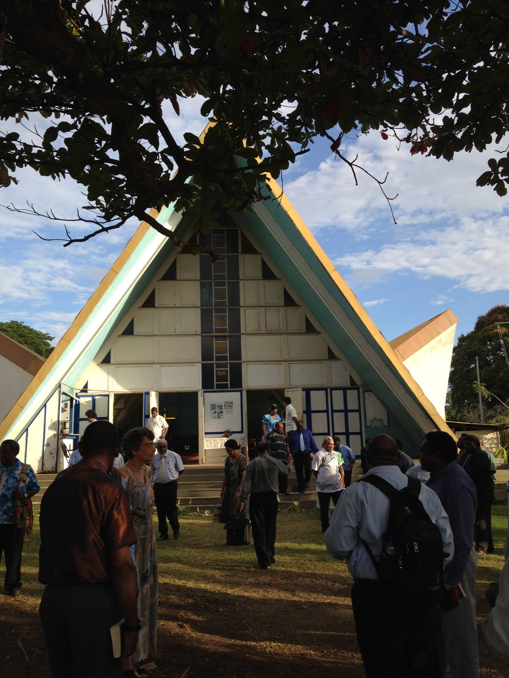 Oh how I love a Pacific Island A-frame. It appears as a meeting house for both the church and the village Chiefs as a  Nakamal.