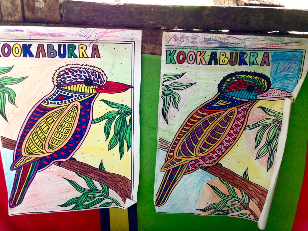A beautiful example of the intersection of cultures- Kookaburra Vanuatu style.