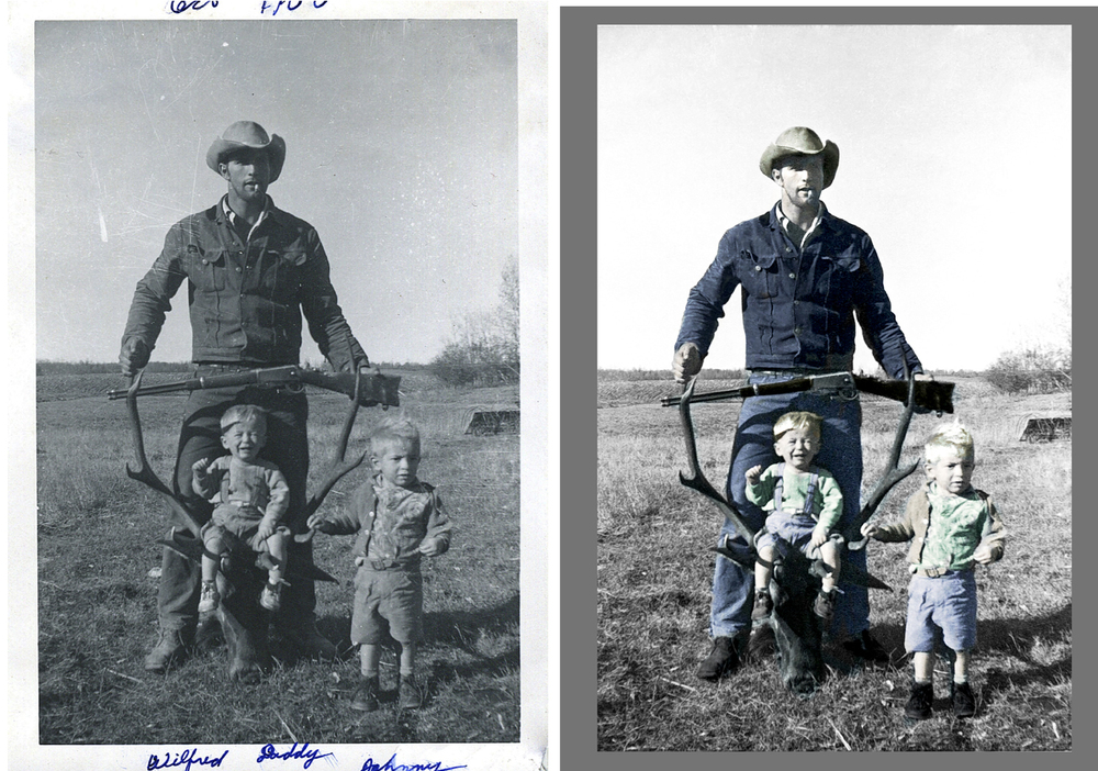 Colorization $60 - Price depends on number of people, detailing, and background complexity.