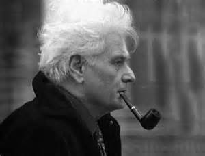 Jacques Derrida getting super deep on that pipe, bro.