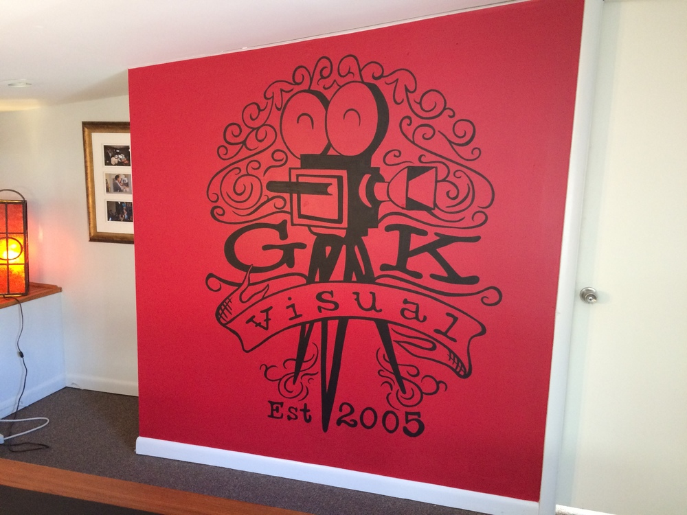 Logo mural commissioned by Sprocket Mural Works. Artist Jacintha Clark.