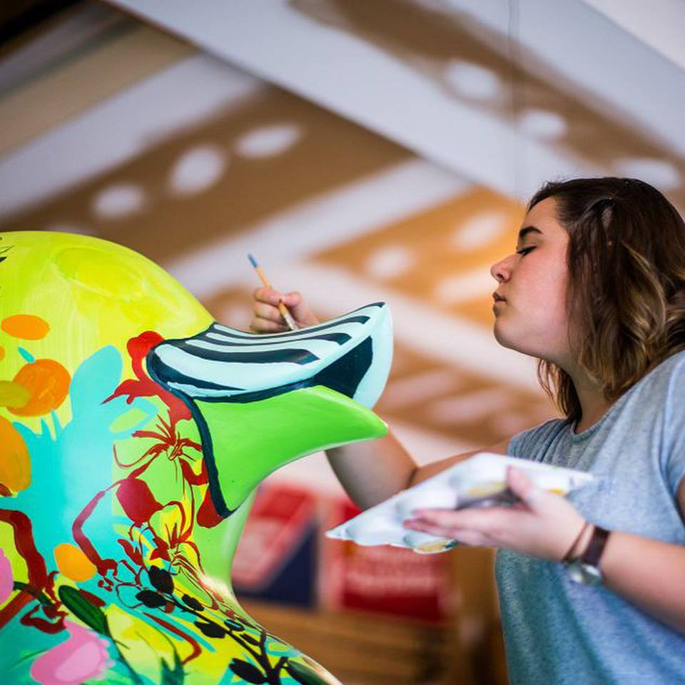 Samantha recently painted one of Harrisburg Downtown Improvement District's Discover the Ducks Downtown!