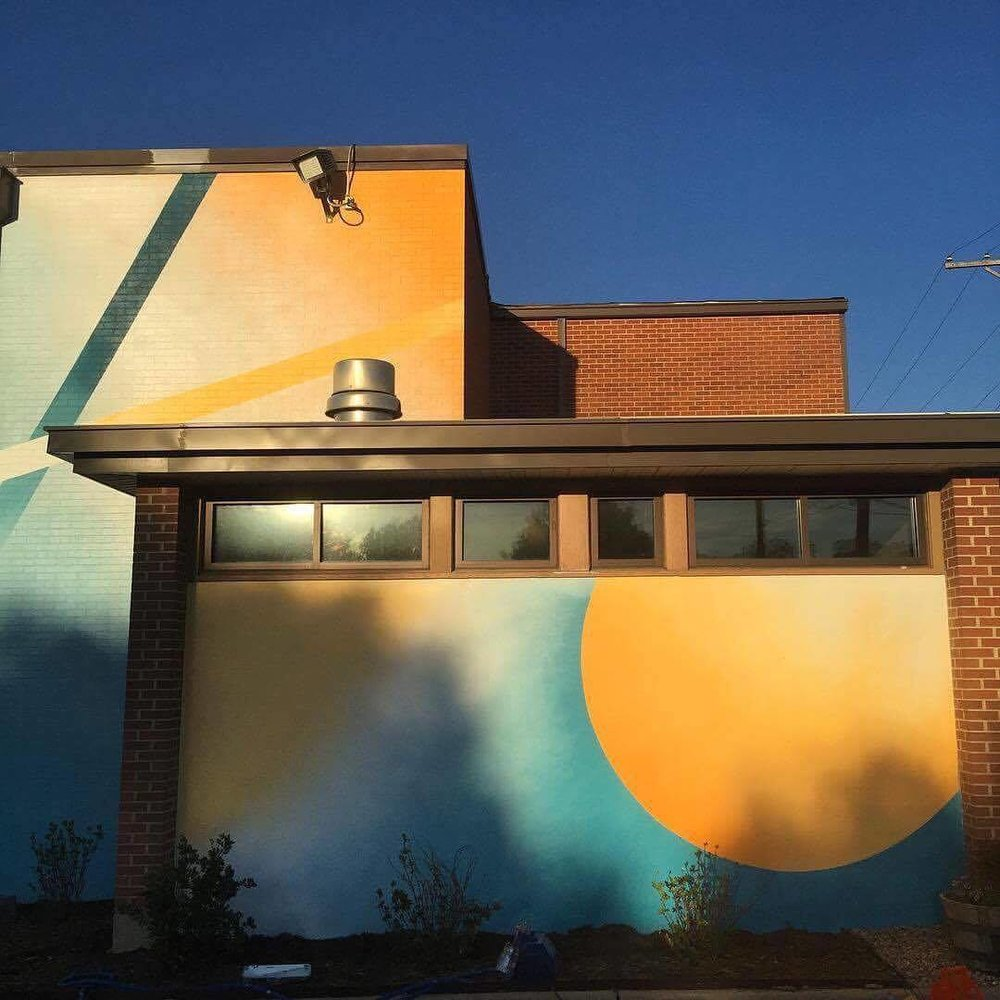 One of Dan Black's most recent murals was for the Cross Timbers Church in Denton, TX.