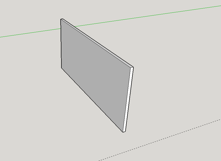 The File. About an inch long (25.4mm), the width of filament wide (approx .5mm) and 6mm tall.