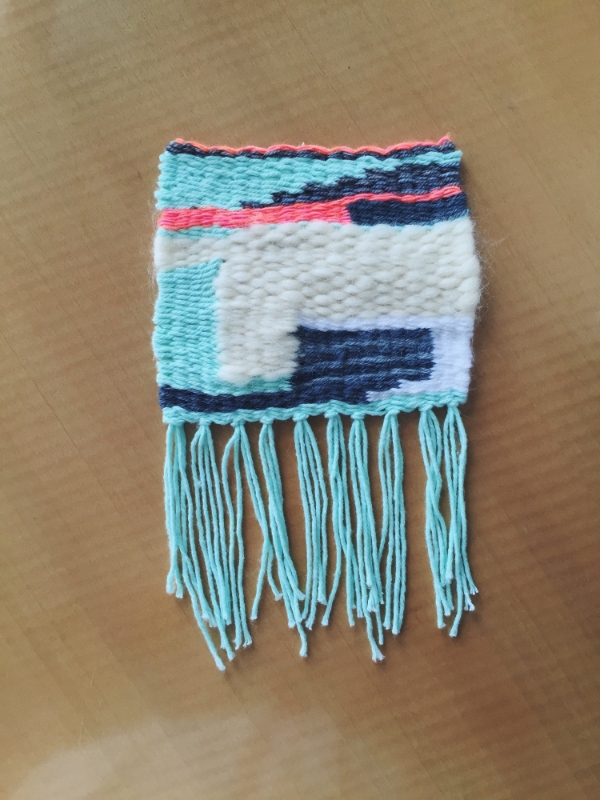 My first ever finished weaving