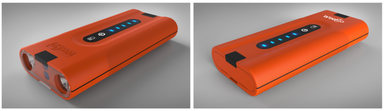 Rendering of the battery box (Initial concept)