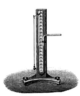Poiseuille's mercury manometer.