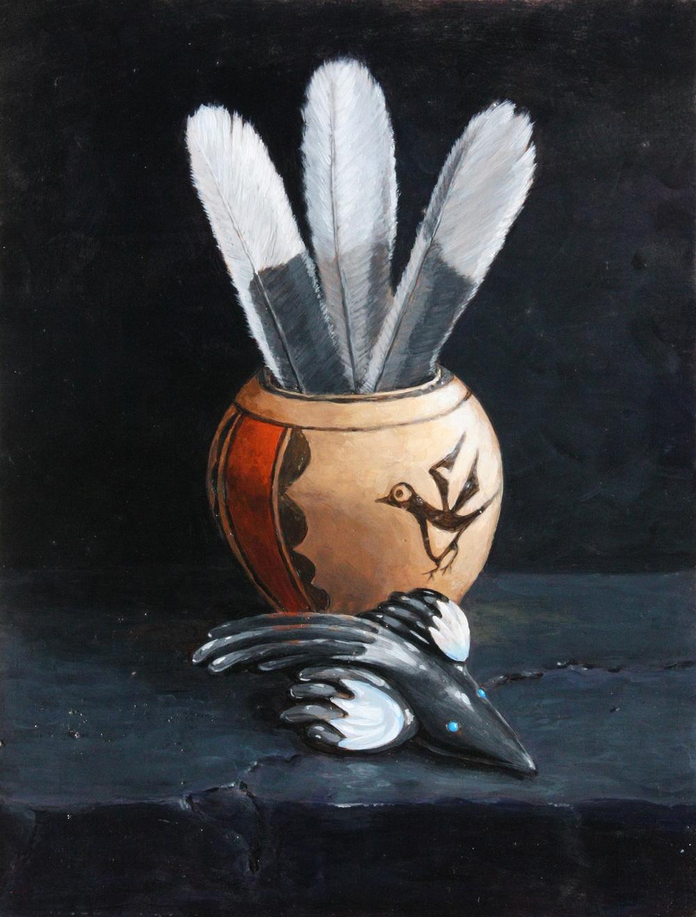 Pueblo Companions - Magpie Feathers & Fetish