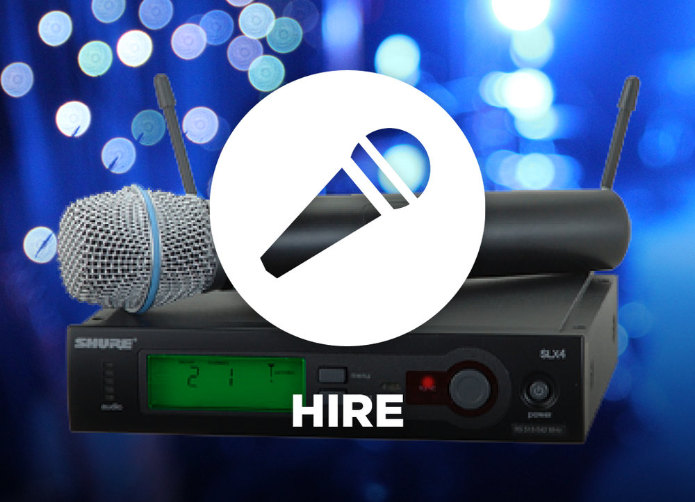 Equipment Hire - audio, lighting, video, staging
