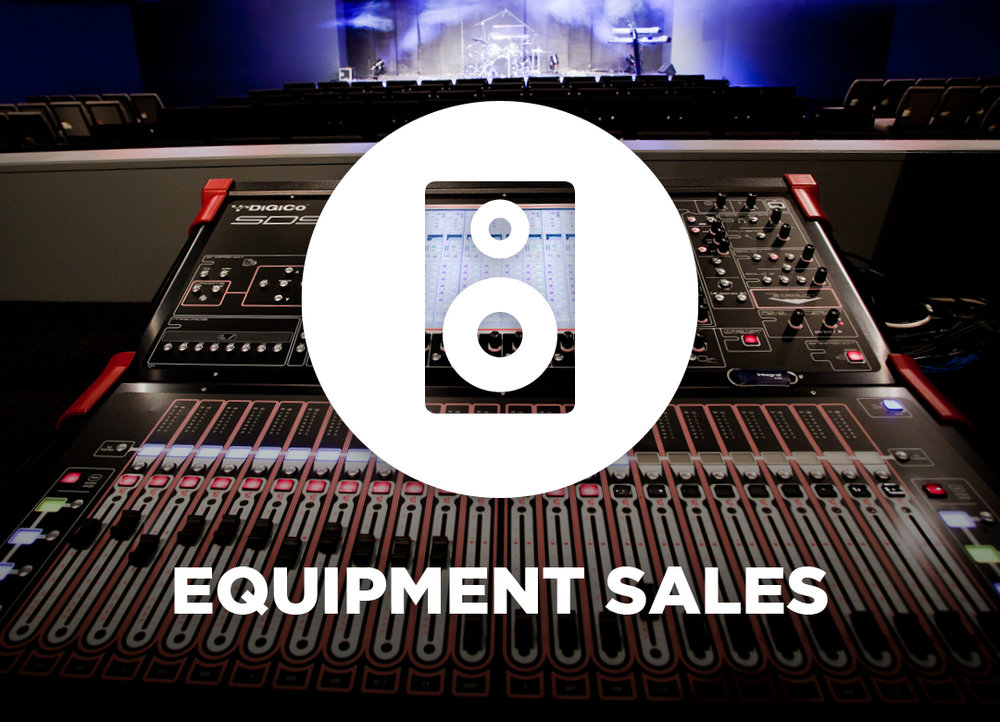 Equipment Sales - audio, lighting, video, staging