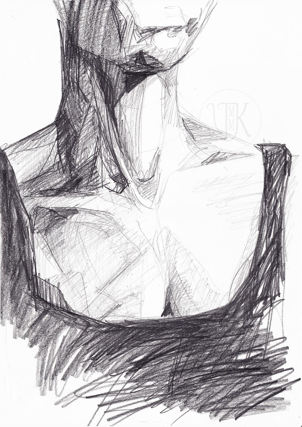 Graphite on a paper, A3, 2016