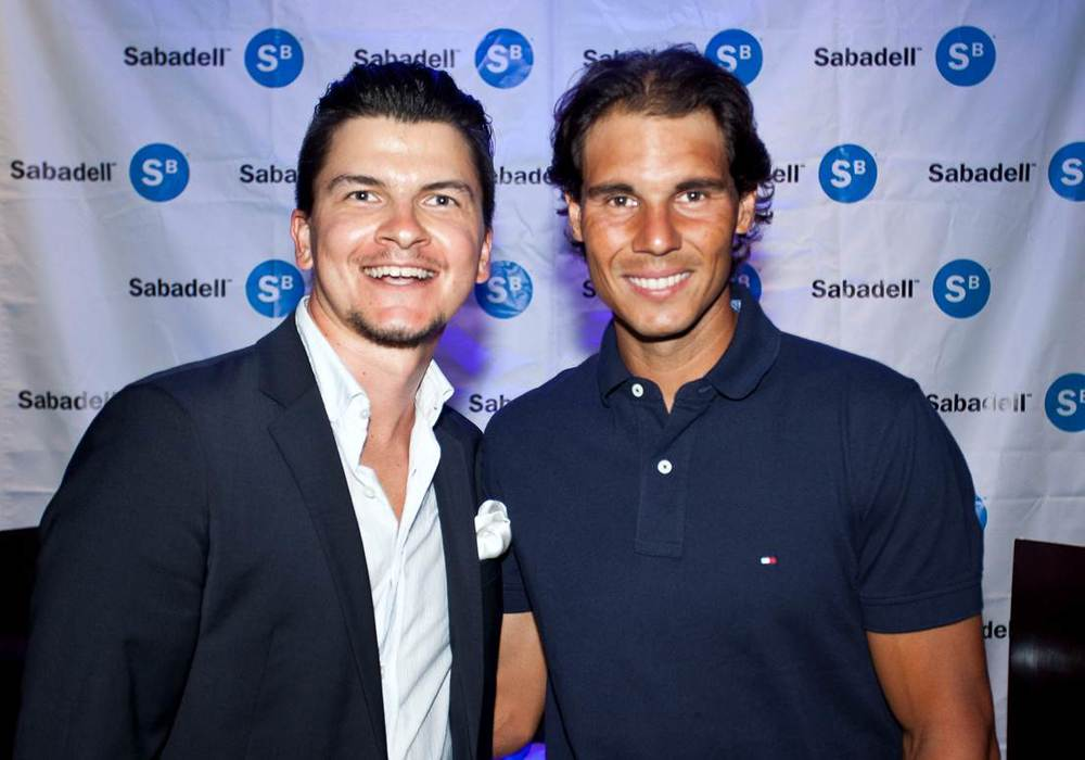 Kirill Kucherov (CEO and Cofounder of SportCampTravel) with Rafael Nadal