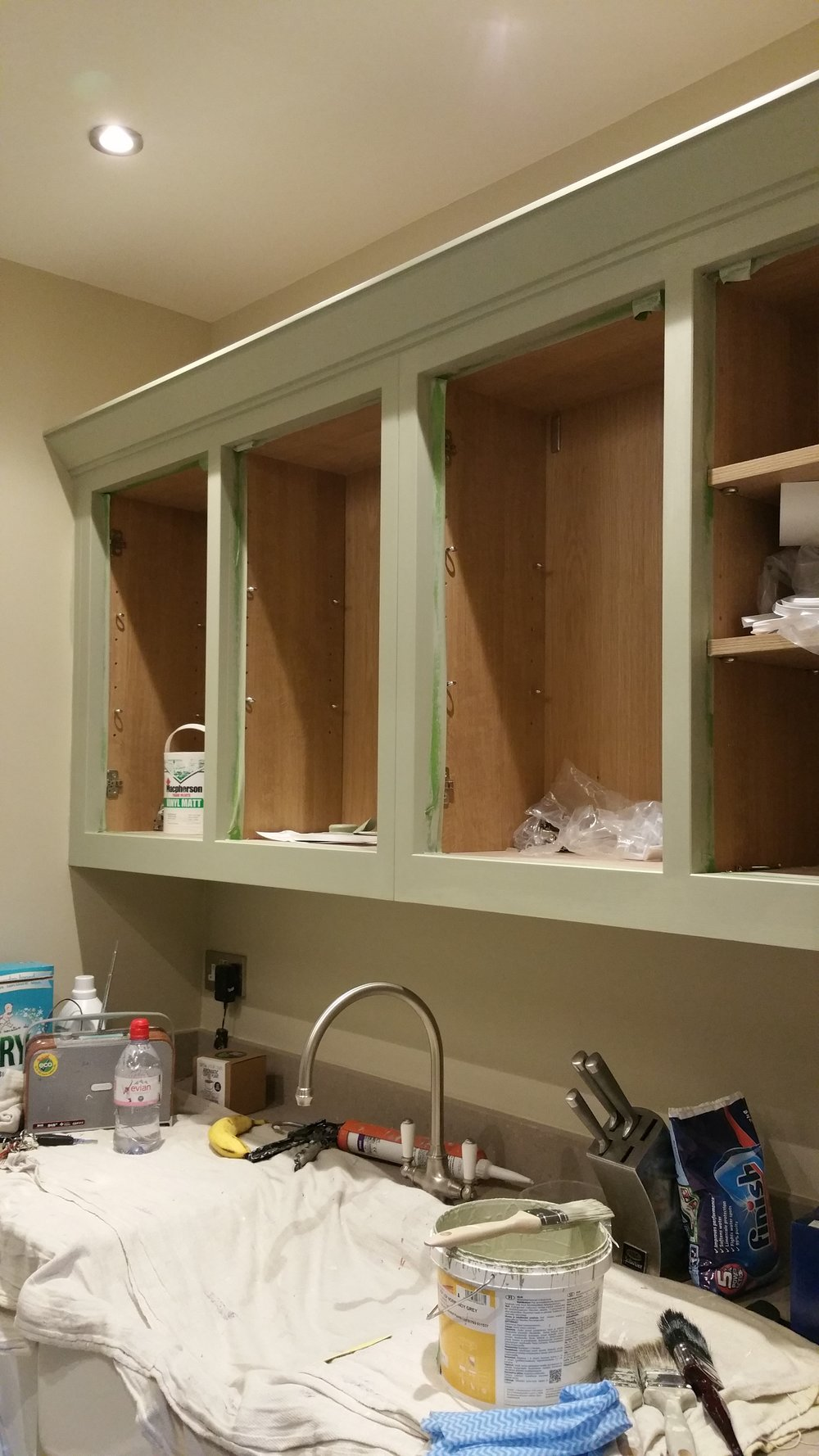 Utility room during painting