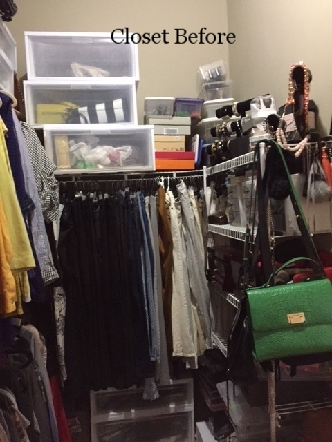 Fashionista Closet Before