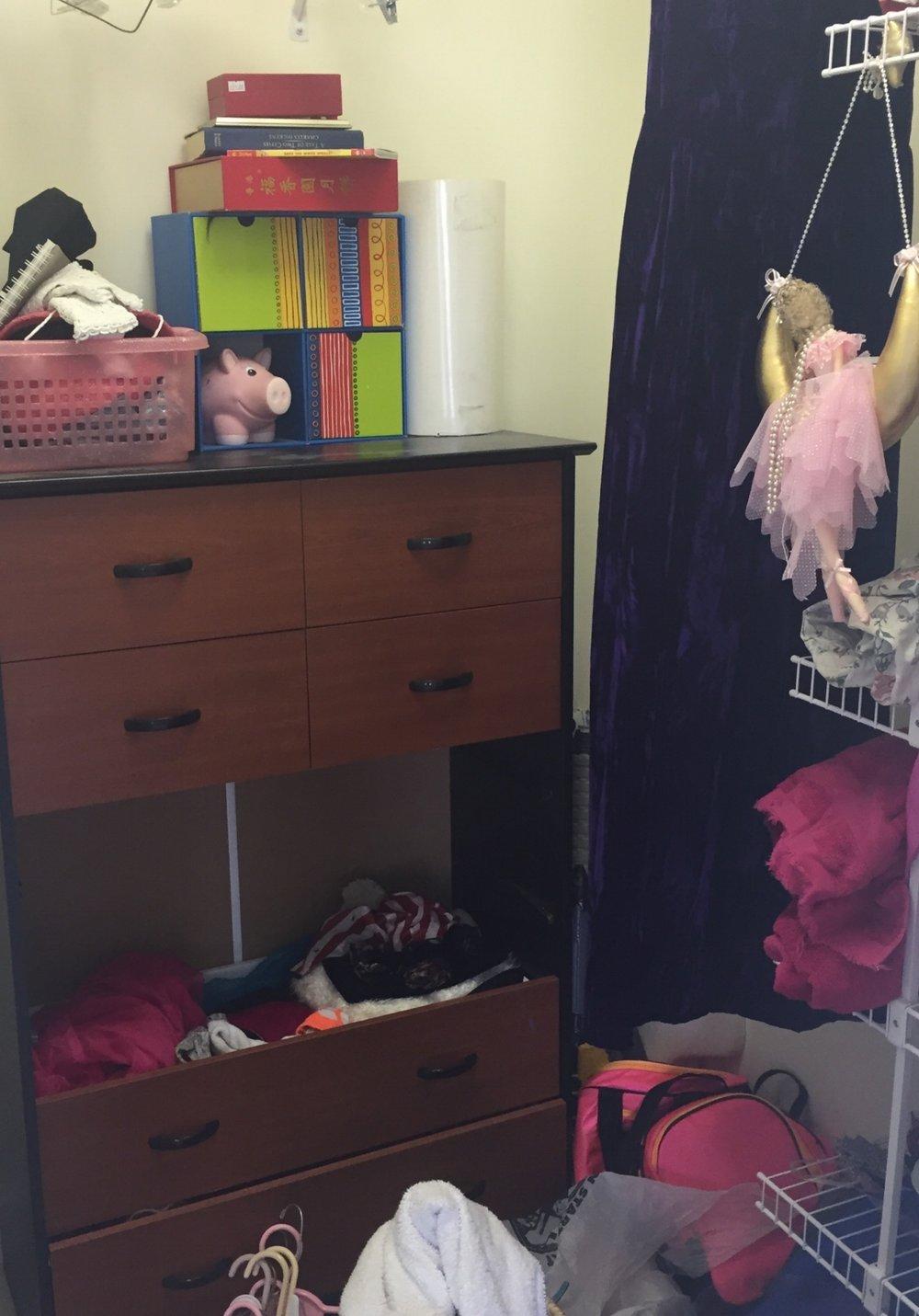 Teen's Closet Before