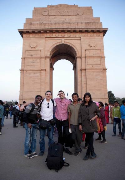 Outside India gate