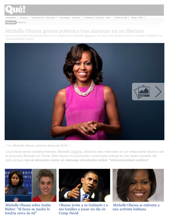 Image Activation Button and Article Display at Que.es