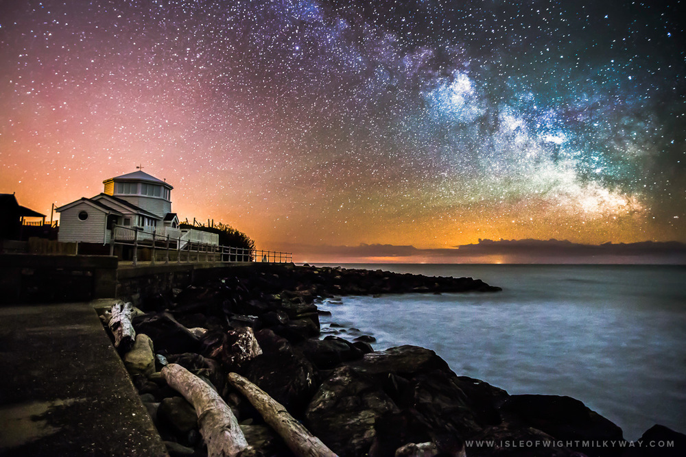 """The Milky Way Above Steephill Cove""   Image by Chad Powell     www.isleofwightmilkyway.com"