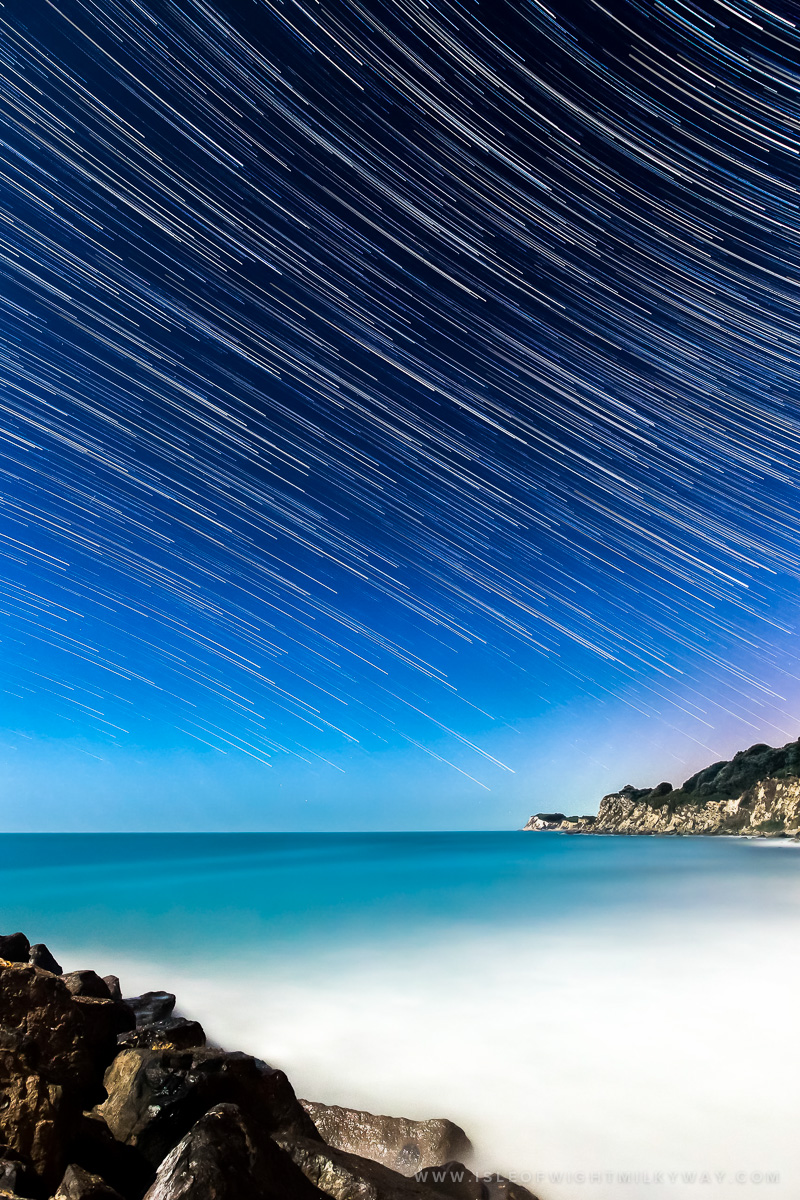 """Streaks In The Sky"" Star Trail    Image by Chad Powell     www.isleofwightmilkyway.com"