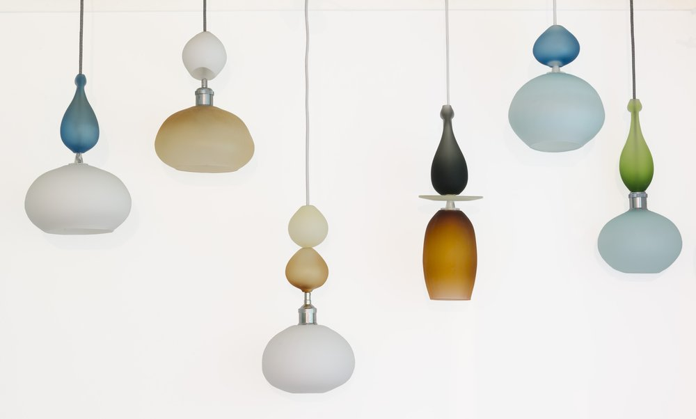 Pendant lamps La Luciole Blown Glass Wakefield Ottawa Gatineau Ontario Quebec Canada Custom lighting Jennifer Bennett.jpg