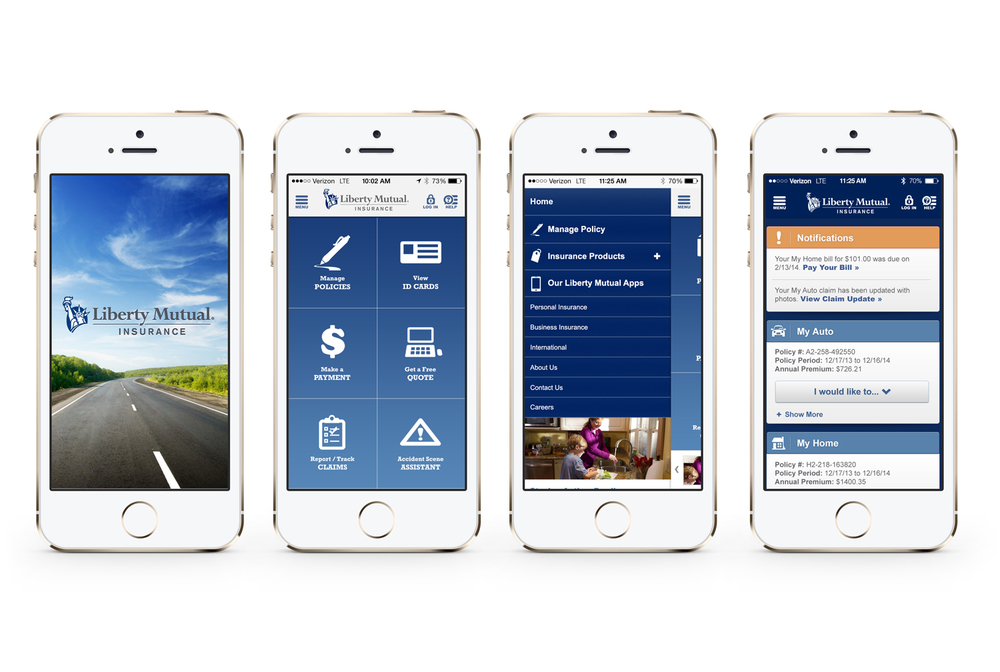 Liberty Mutual App Homepage