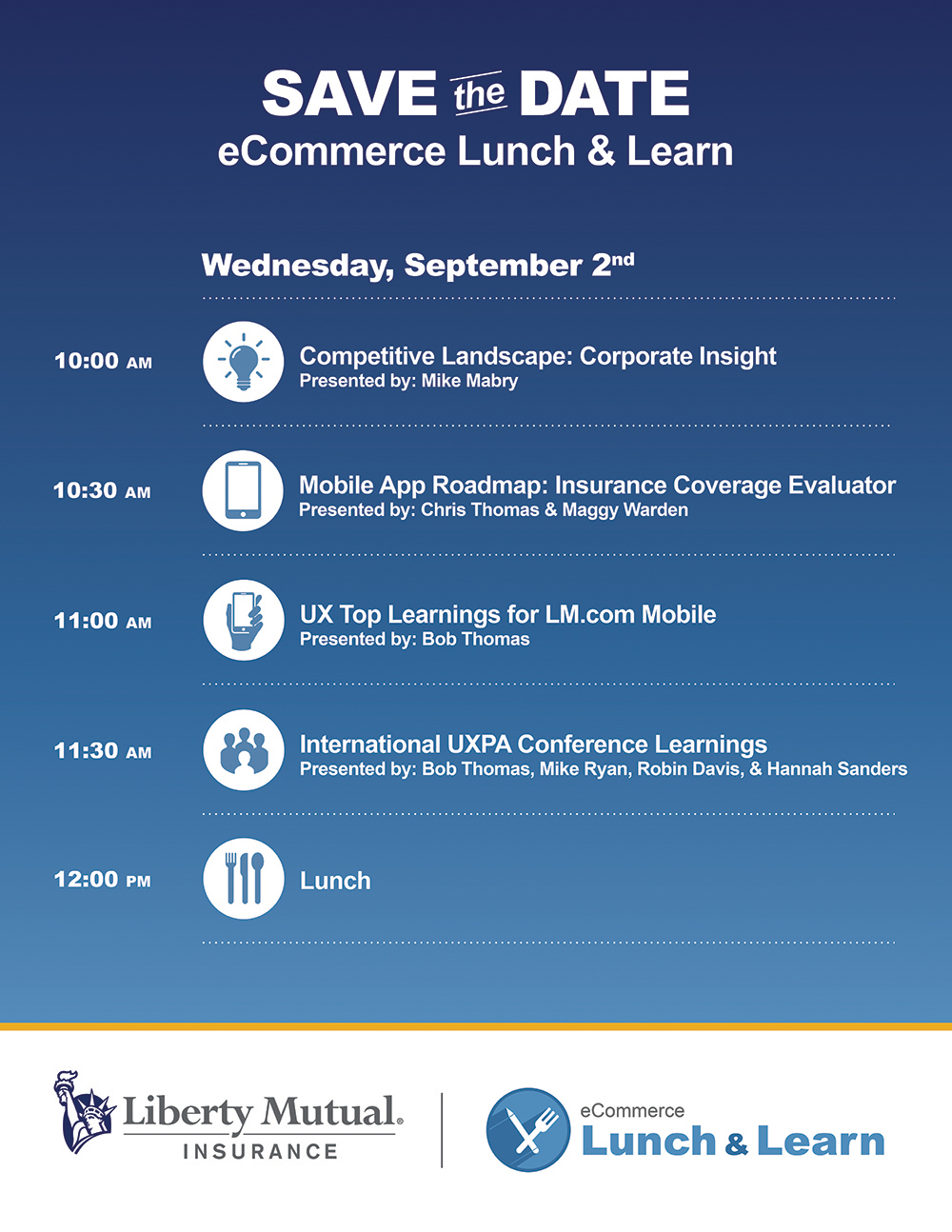 eCommerce Lunch & Learn Agenda