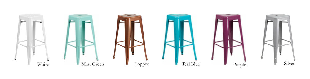 Metal Stools - Our metal