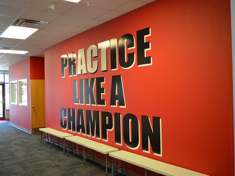 wall art at FUNdamental Athletics Academy Lincoln Nebraska