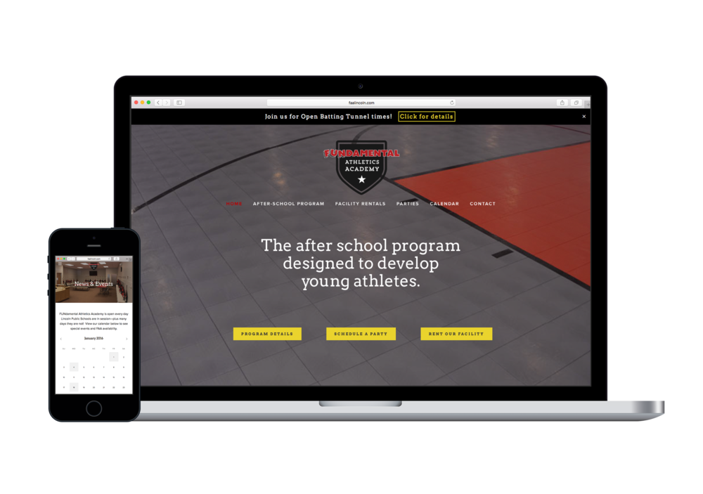fitness center website design | FUNdamental Athletics Academy