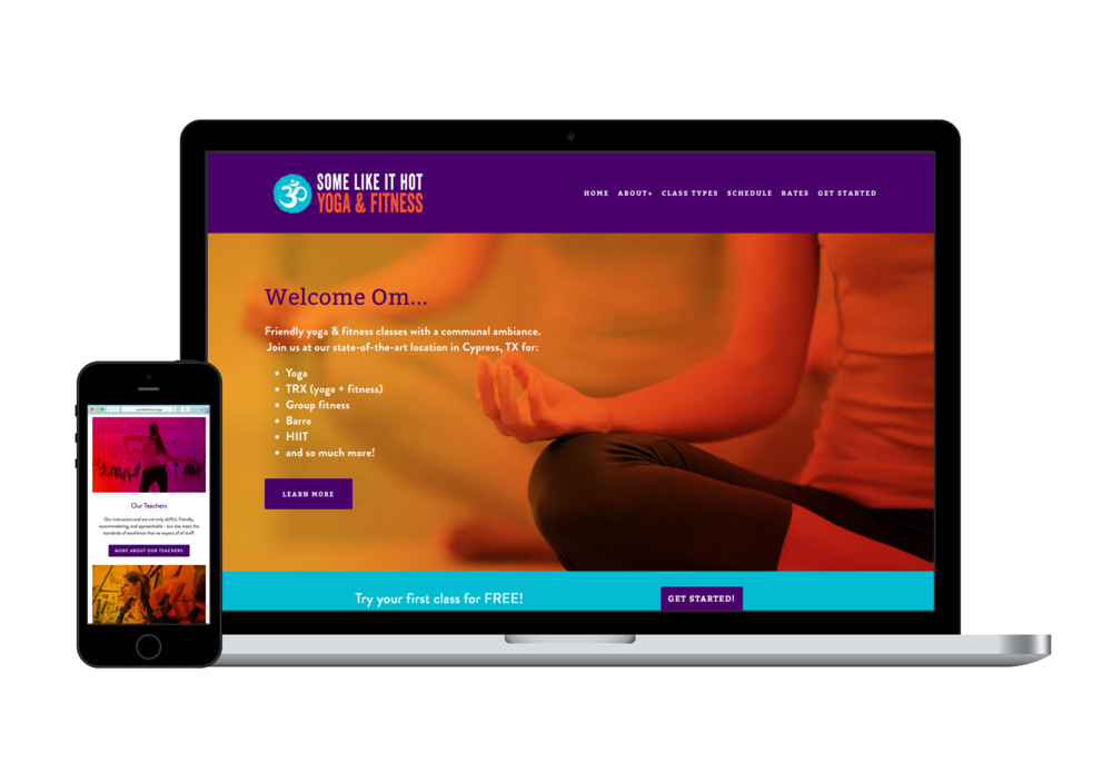 fitness center website design