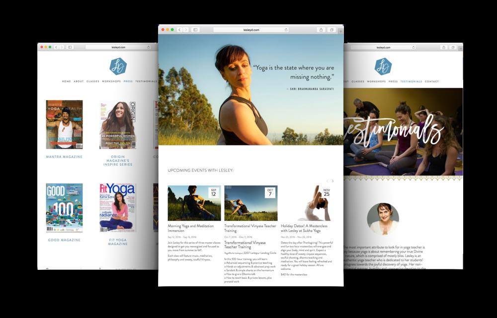 Yoga teacher website design