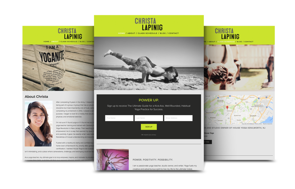 Yoga Website Design | Christa Lapinig