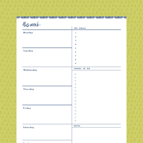 my organizing to do list picks free printable
