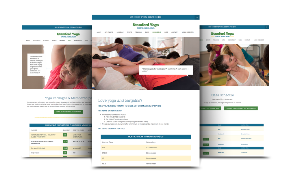 Yoga Website Design | Elements Yoga and Wellness Center