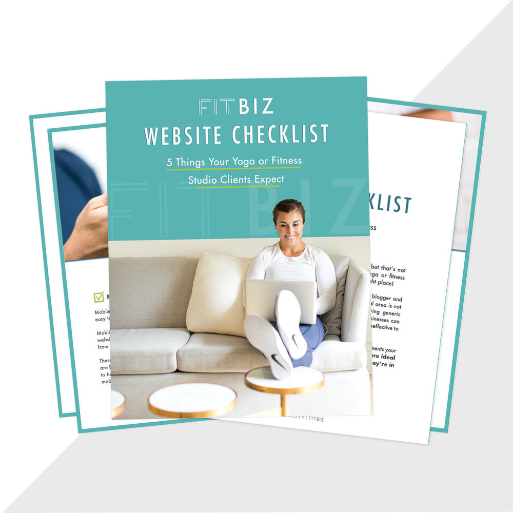Get your FREE copy of the fitbiz website checklist -