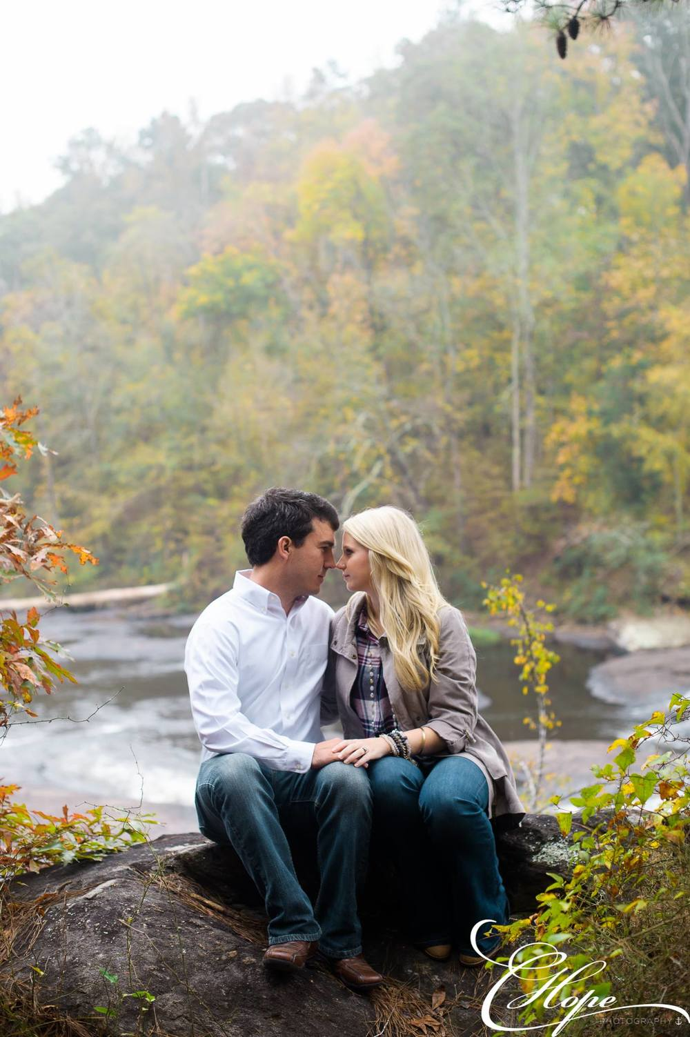 Phil and Jes' cozy engagment session in Georgia by C Hope Photography